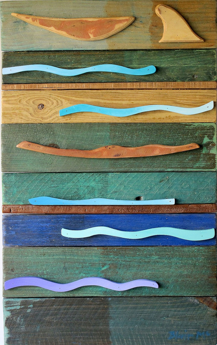 North-Easter #2 - 930 x 600 x 70mm - painted wood