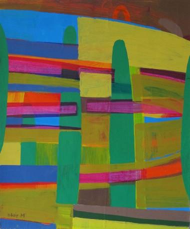 1 Sea Shape - 330 x 430mm - acrylic on arches