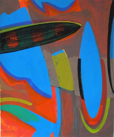 3 Surfboard - 355 x 430mm - acrylic on arches