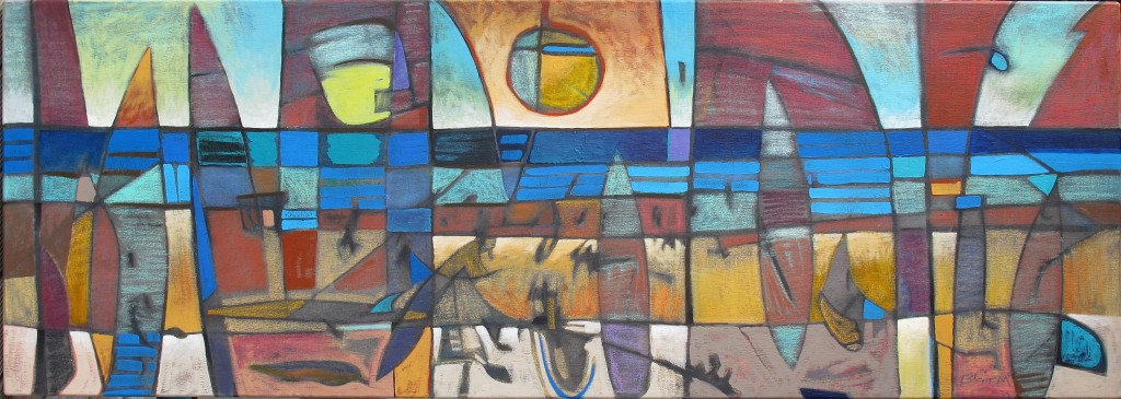 Low Tide mixed media on canvas 1300 x 500mm